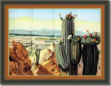 BFC0882 Colors of the West Window Series The Cactus
