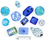 Assorted Lampwork Beads - The Blues
