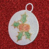 Christmas Ornament with Glitter