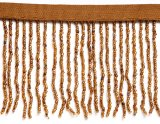 Vintage Dark Gold Beaded Fringe