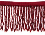 Vintage Dark Red Beaded Fringe