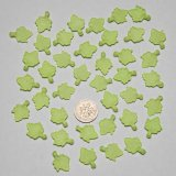 "Green Acrylic Frosted Maple Leaves18x13mm(3/4""x1/2"")"