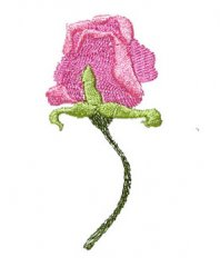 Art Nouveau Small Rose