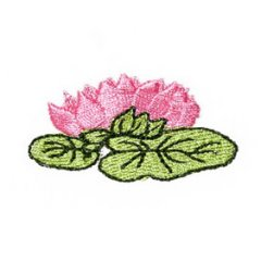 Art Nouveau Small Water Lily