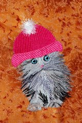 Tiny Cat - Hot Pink Hat