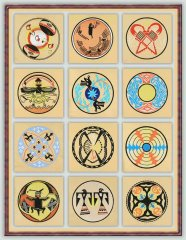 BFC1066 Southwestern Quilt Circles II
