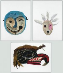 BFC1089 Three Native American Masks