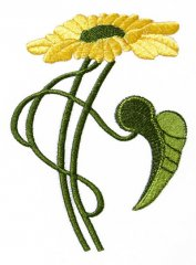 Art Nouveau Medium Sunflower