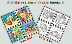 BFC1234 QIH Stained Glass Veggie Blocks II