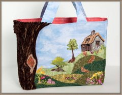 BFC1256 Cottage on the Hill Tote Bag