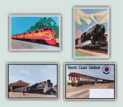 BFC1276 Vintage Train Postcards