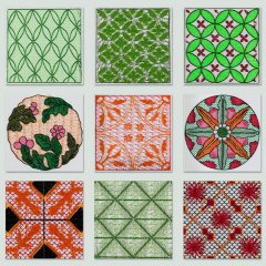 BFC1332 Colorful Textile Patterns