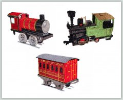 BFC1340 Three Toy Trains