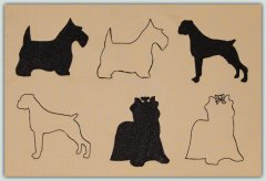 BFC1342 Dogs-Outlines and Silhouettes
