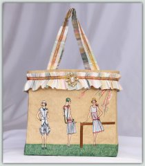 BFC1379 Vintage Fashion Tote Bag
