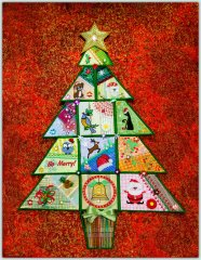 BFC1414 QIH Crazy Patch Christmas Tree