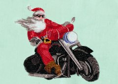 BFC30369 Santa on a Motorcycle