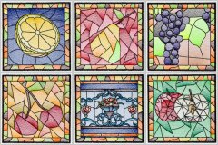 BFC1512 Stained Glass Squares-Fruit