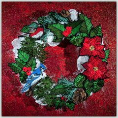 BFC1519 FSL Christmas or Winter Wreath