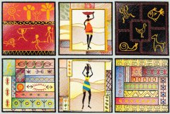 BFC1535 African Quilt Squares
