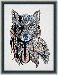 BFC1541 Large Tribal Wolf