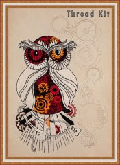BFC1575 Steampunk Owlbert Einstein Thread Kit