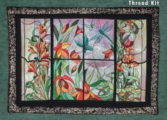 BFC1577 Stained Glass Floral Triptych Thread Kit