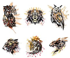 BFC1580 Tribal Animals