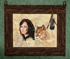 BFC1584 Native American Woman and Cougar Thread Kit