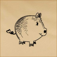 BFC1693 Sketchy Pals - Blackwork  Version - Piggy