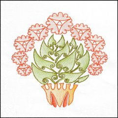 BFC1709 Art Nouveau Floral Quilt Blocks - 05
