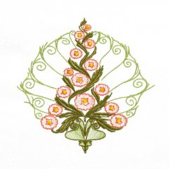 BFC1709 Art Nouveau Floral Quilt Blocks - 06