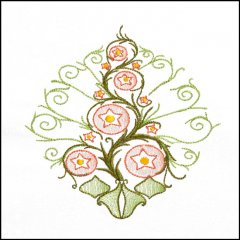 BFC1709 Art Nouveau Floral Quilt Blocks - 08