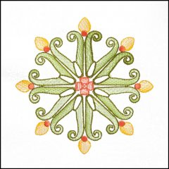 BFC1709 Art Nouveau Floral Quilt Blocks - 10