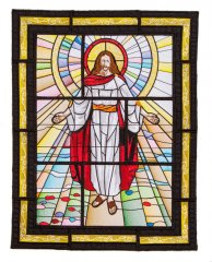 BFC1719 Stained Glass Christ is Risen