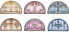 BFC1731 Stained Glass Semi Circles