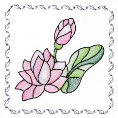 BFC1742 Stained Glass Floral Blocks - 07