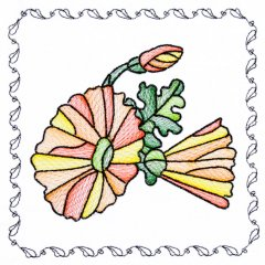 BFC1742 Stained Glass Floral Blocks - 11