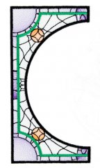 BFC1756 Stained Glass Circles and Frames - 02