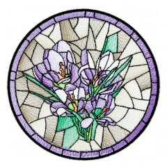 BFC1756 Stained Glass Circles and Frames - 01