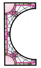 BFC1756 Stained Glass Circles and Frames - 06