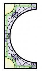 BFC1756 Stained Glass Circles and Frames - 08