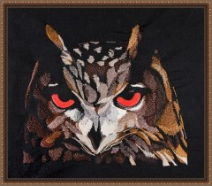 BFC1766 Large Eagle Owl Portrait