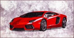 BFC1807 Large Red Lamborghini