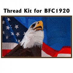 BFC1920 Large Eagle with American Flag IV Thread Kit