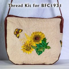 BFC1931 Shoulder Bag with Sunflowers Thread Kit