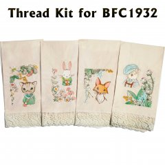 BFC1932 Baby Animals with Flowers Thread Kit