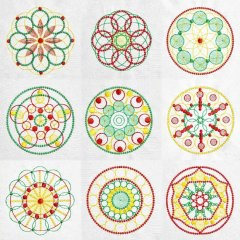 BFC1933 Circles upon Circles  Quilt Blocks