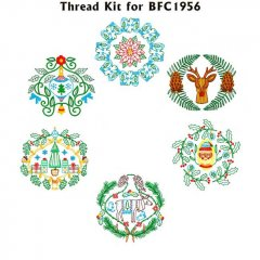 BFC1956 Christmas Mandalas Thread Kit