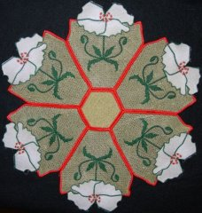 BFC0233 Lace Doily Roosters